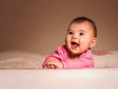Adorable Baby Girl in Pink