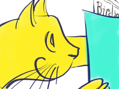 Cat reading Color