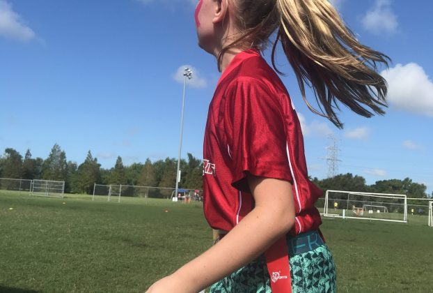 Girl playing sports